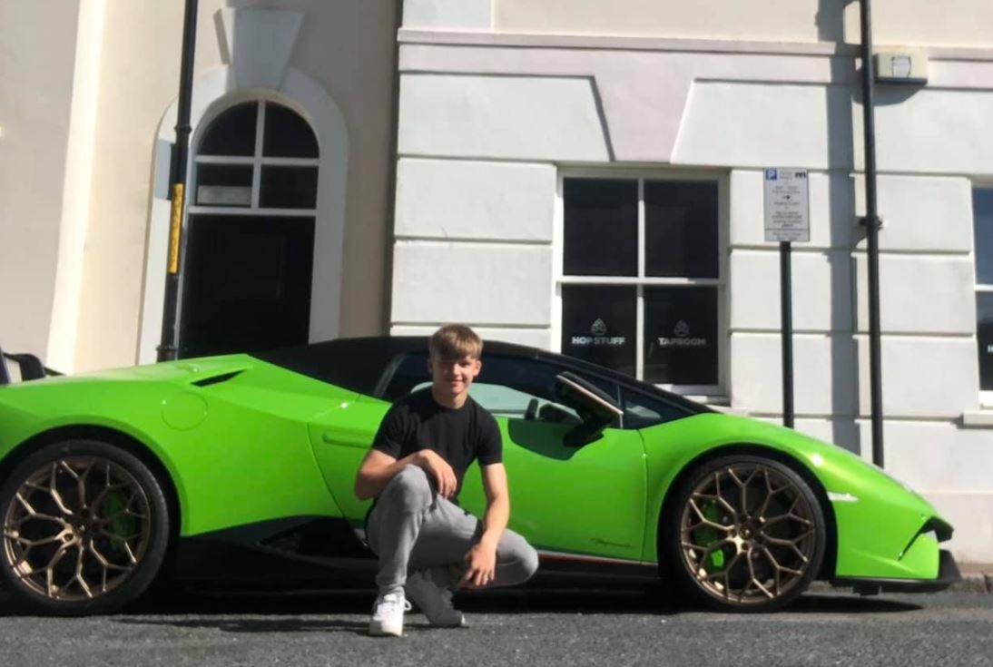 Lloyd Bryant With a Lamborghini